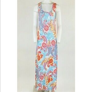 Klozlyne Paisley Print Maxi Dress